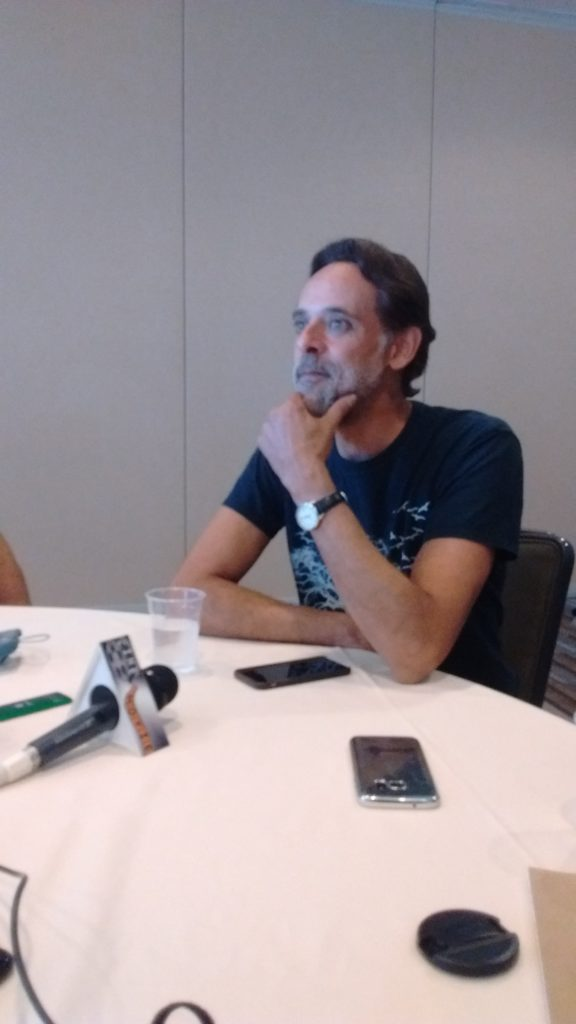 Alexander Siddig in the GOTHAM press room