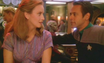Sarina Douglas and Julian Bashir